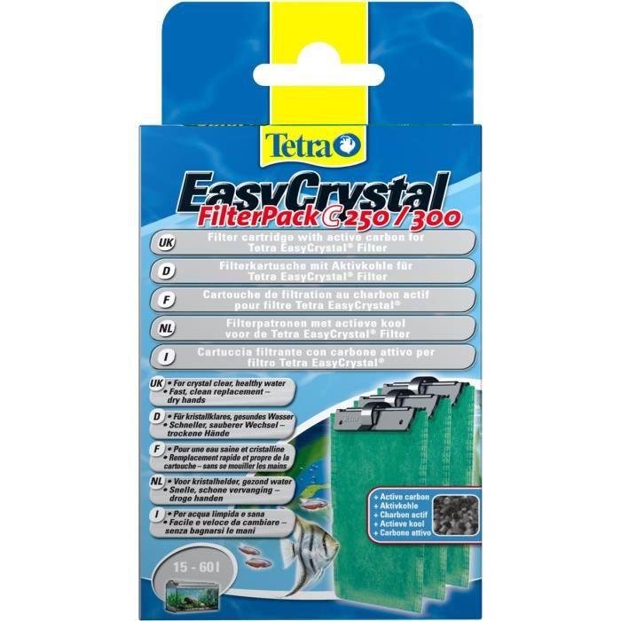 Tetra - 151598 - Cartouches pour Filtre pour Aquarium EasyCrystal - Filter Pack C250/300 avec Charbon
