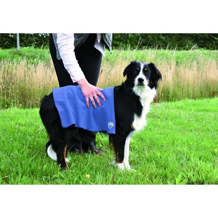 TRIXIE Serviette, 50 × 60 cm, bleu pour chien