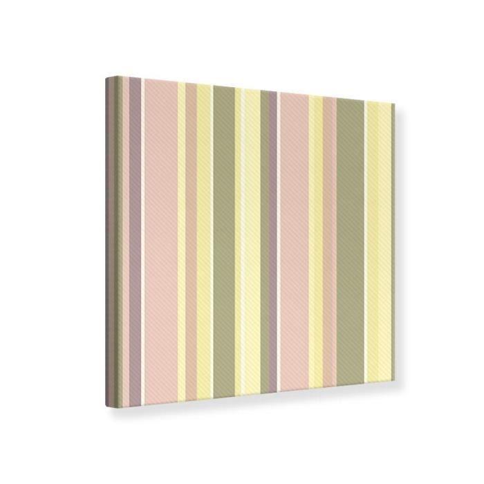 TABLEAU - TOILE Tableau Toile Peinture Vertical Stripes 30 x 30 cm