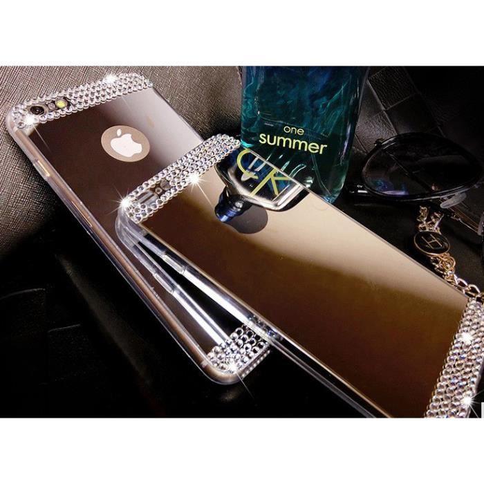 coque iphone 4 4s silicone miroir diamant coloris