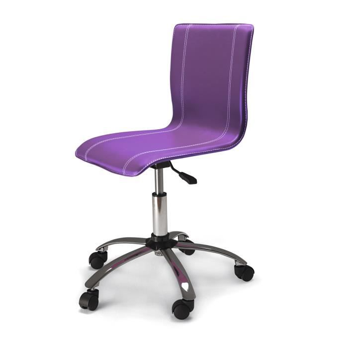 Chaise de bureau tudiant violet dimensions meubles for Meuble bureau etudiant