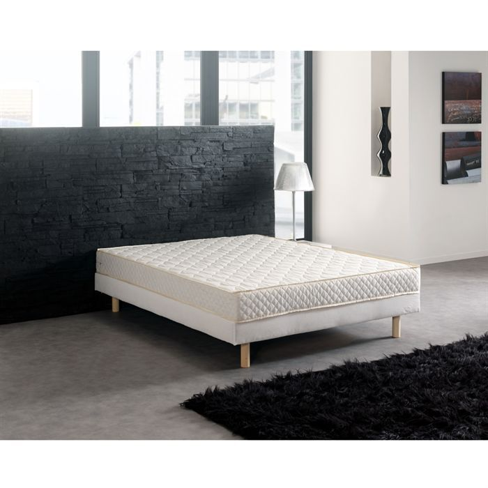 creasom sommier tendu 160x200 cm tapissier lattes 2. Black Bedroom Furniture Sets. Home Design Ideas