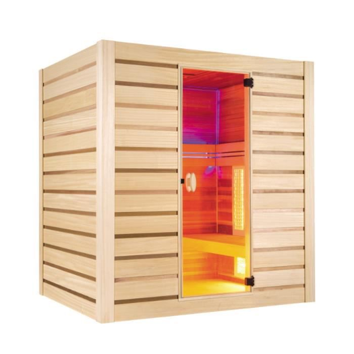 Sauna infrarouge et vapeur hybrid combi 4 places achat vente kit sauna sa - Sauna infrarouge 4 places ...
