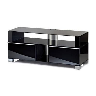 porano xxl 140 meuble tv hifi rangement moderne sur roulettes laqu noir meuble tv porano xxl. Black Bedroom Furniture Sets. Home Design Ideas