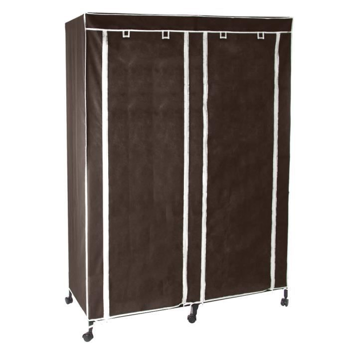 armoire double sur roulettes chocolat achat vente. Black Bedroom Furniture Sets. Home Design Ideas