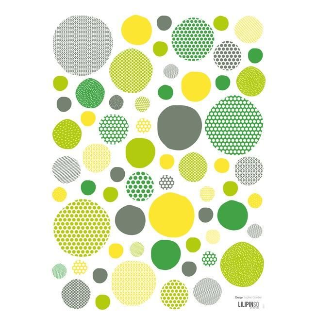 stickers pois vert jaune achat vente stickers cdiscount. Black Bedroom Furniture Sets. Home Design Ideas