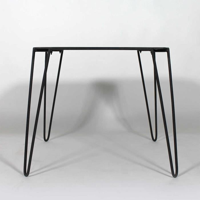 Table manger baltiq en m tal noir mim5195 achat for Petite table a manger