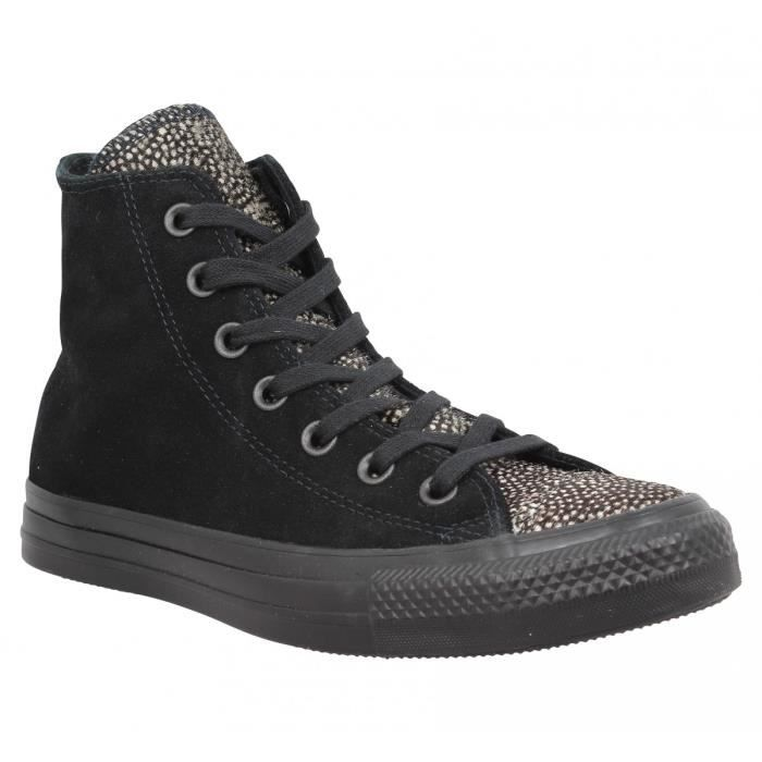Baskets CONVERSE Chuck Taylor All Star Hi velours Femme-38-Noir
