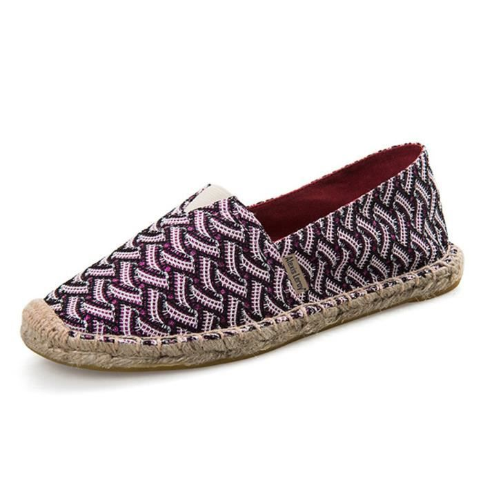 Trendtwo Espadrilles 36 Femmes Stripe 1nd0ns Flat Taille Canvas qqxOpn4w6