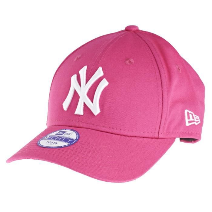 new era 9forty stretched kids casquette ny yanke rose achat vente casquette 0885429051501. Black Bedroom Furniture Sets. Home Design Ideas