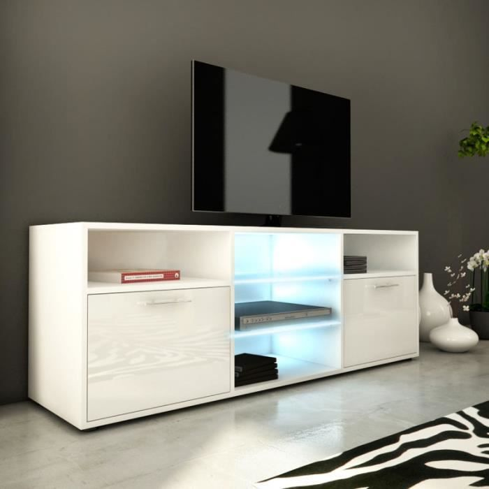 Paris prix meuble tv design kiara iii 150cm blanc for Meuble ashley prix