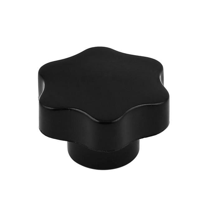 M10 Filetage Femelle 50mm Diamètre Tête Visser Sur Moleté Bouton De Serrage Noir