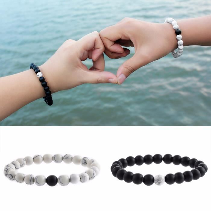distance bracelet couple