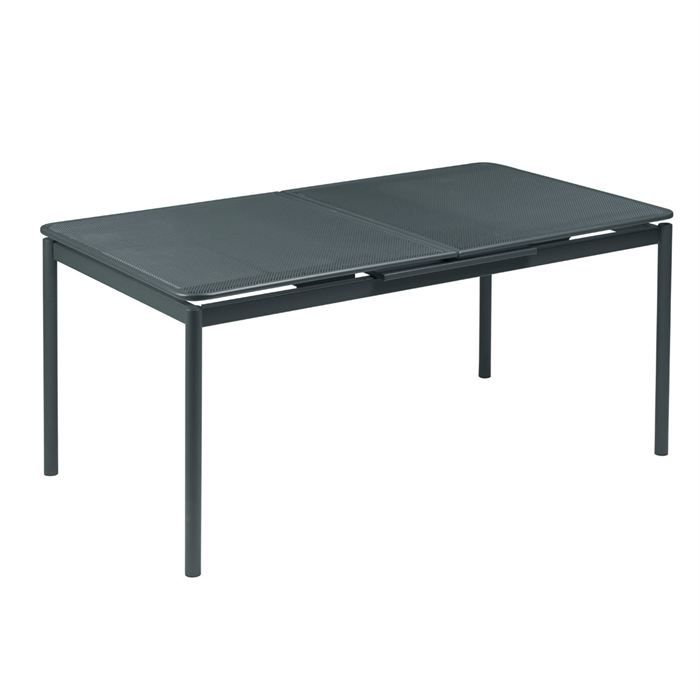 Syd table extensible 90 x 160 210 en acier achat vente for Table de cuisine rectangulaire extensible