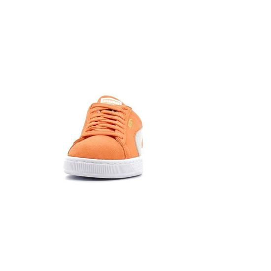 Baskets basses Puma Suede White Classic coloris Melon - White Suede Orange Orange - Achat / Vente basket a8cd72
