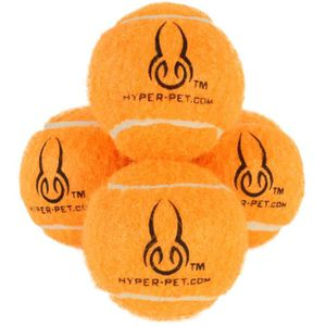 HYPER PET Pack de 4 mini balles de tennis - Orange - Pour chien