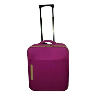 FLYBAG Valise cabine Low Cost souple 2 Roues 46 cm Rose