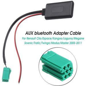 ADAPTATEUR AUDIO-VIDÉO  Module Bluetooth adaptateur AUX de câble pour Rena