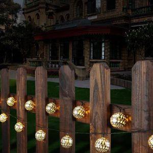 LAMPE DE JARDIN  Guirlandes lumineuses d'extérieur 12 LED Solaire E