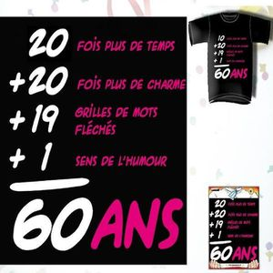 t shirt 60 ans achat vente t shirt 60 ans pas cher cdiscount. Black Bedroom Furniture Sets. Home Design Ideas