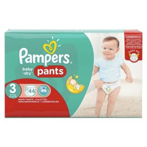 COUCHE Pampers Couches Baby-Dry Pants Géant Taille 3 (6-1