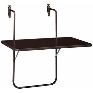 TABLE DE JARDIN  Boy Table suspendue pour balcon 60 x 40 cm marron