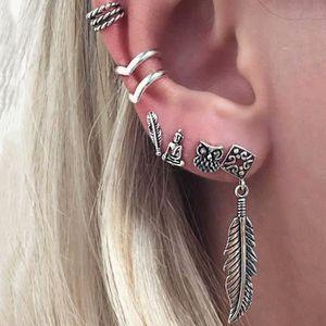 9 Paires Femmes Mesdames Cristal Perle Fleur Clous D/'Oreilles Boucles d/'oreilles pendantes Boho Jewelry