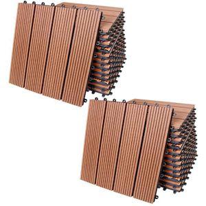 REVETEMENT EN PLANCHE 22x Dalle de terrasse en bois composite WPC Classi