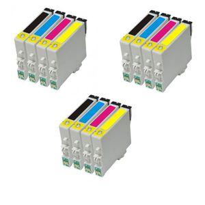 CARTOUCHE IMPRIMANTE 12 encre cartouches pour Epson DX4400 DX4450 DX740