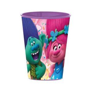 Verre à eau - Soda Gobelet Les trolls Disney verre plastique enfant v