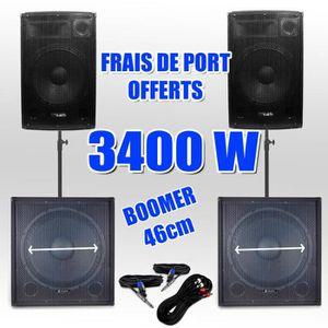 PACK SONO Pack 181815 Sonorisation 3400W Caisson bi-amplifié