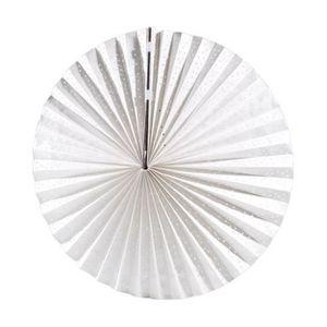 LANTERNE FANTAISIE Lampion plat en papier - Blanc