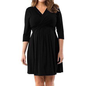 ROBE Robe femme enceinte, en vrac grand taille, noir