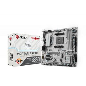 CARTE MÈRE MSI B350M MORTAR ARCTIC AMD B350 Socket AM4 Micro