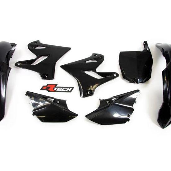 Racetech Kit Plastique Complet RTECH Yamaha 125 250 YZ 02-14 Black Restyle 15