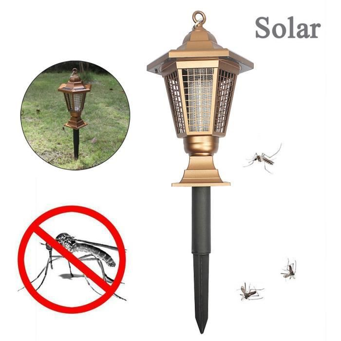 Énergie solaire LED Light Pest Bug Bug Zapper Insect Mosquito Killer Lamp Garden Light FLL90430672_721