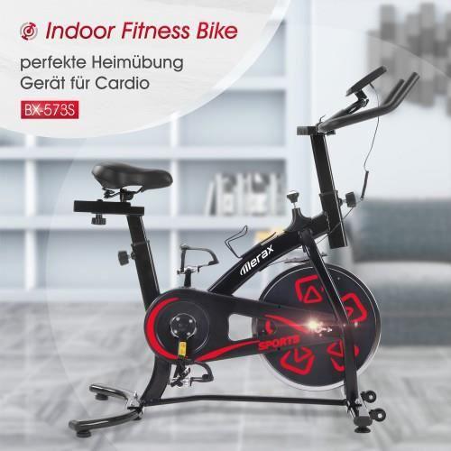 Vélo d'appartement de l'entraînement cardio avec coussin de siège confortable vélo d'intérieur avec console LCD -QNQ HB035 -YNF