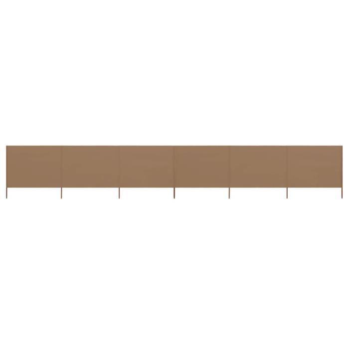 SHOP•7061Mode Paravent extérieur rétractable Paravent Store vertical Auvent Latéral Jardin & Terrasse Brise-Vue 6 panneaux Tissu 800