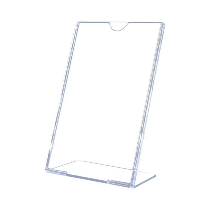 6pcs acrylique incliné présentoir porte-signe image liste de prix de bureau