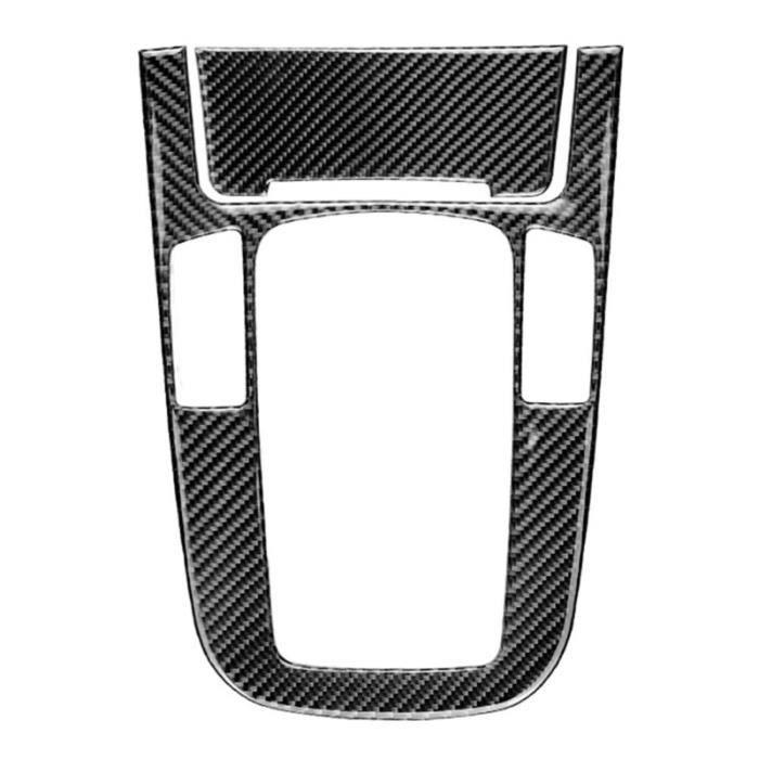 1PC automobile décoratif style Durable en Fiber de carbone panneau de changement de vitesse BEQUILLE CENTRALE - BEQUILLE LATERALE