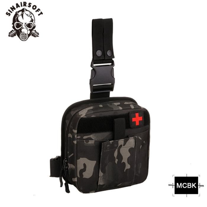MCBK -Pochette de jambe militaire en plein air, sac West Bag, étanche, tactique, Molle, système de premiers secours, pochette médica