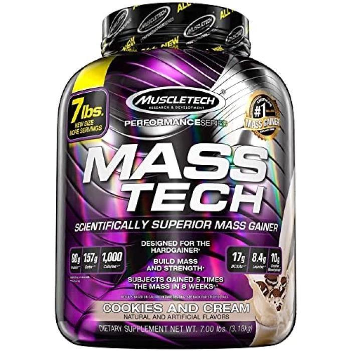 MuscleTech Mass-Tech Gaineur de Masse Musculaire Cookies-Crème 3,18 kg271