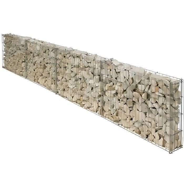 Gabion pour muret long:2,30ml Haut :40cm