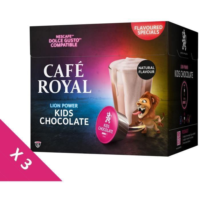 [Lot de 3] CAFE ROYAL Café Compatible Dolce Gusto Kids Chocolate x16