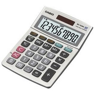 CASIO Calculatrice de bureau MS100BM grise