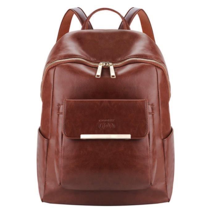 COOFIT Sac à dos femme Sac a dos cuir synthétique sac à dos vintage femme sac a dos college fille Sac dos femme-28 * 13 * 36 cm
