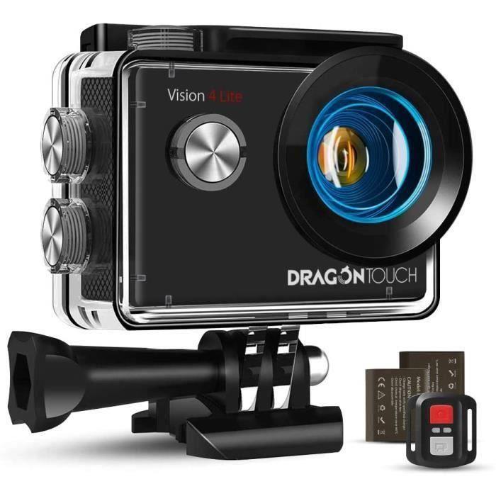 Caméra Sport 4K Dragon Touch WiFi avec Télécommande 2.4G & Micro Externe & EIS, Grand Angle 170°, Kits d'Accessoires - Vision 4