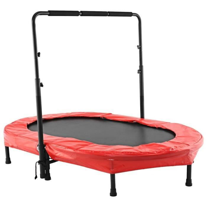 Trampoline fitness parent-enfant - mini trampoline élastique - Rouge