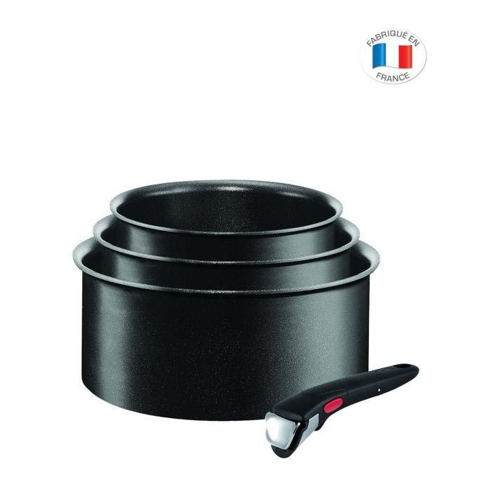 TEFAL INGENIO EXPERTISE Set de 3 Casseroles L6509502 16-18-20 cm Tous feux dont induction