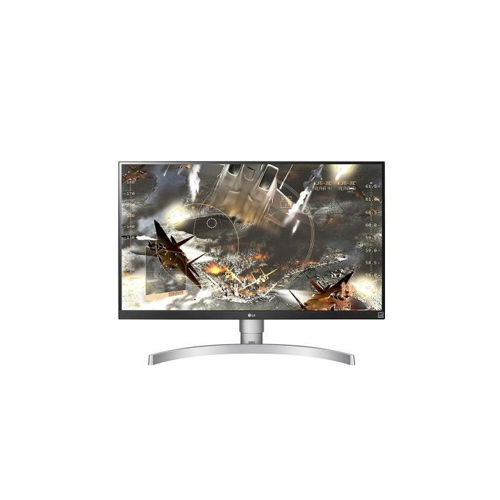 Lg 27Uk650 W Écran Pc 27'' Uhd 3840x2160 Dalle Ips 5ms (350Cd Srgb 99% Hdmi 2.0 x 2 Displayport 1.2 x 1)